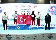 Milli taekwondoculardan poomsaede 35 madalya
