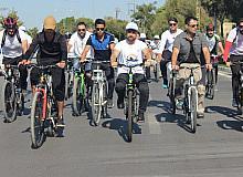 Şamran Kanalı çevresinde bisiklet festivali