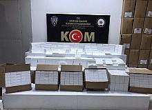 Samsun'da 160 bin adet bandrolsüz makaron ele geçti