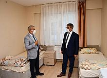 Vali Gürel, öğrenci yurdunda incelemelerde bulundu