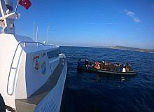 Çanakkale açılarında 35 düzensiz göçmen kurtarıldı