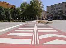Karaman'da yol çizgisi ve yaya geçidi çalışması