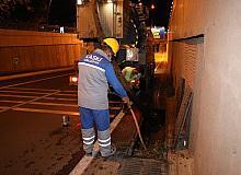 KASKİ'den yağmur suyu ızgaralarına temizlik