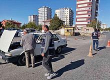 Kayseri'de araçlar ve motosikletler denetlendi