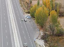 Konya'da helikopter destekli trafik denetimi yapıldı