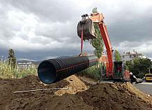 Yağmur suyu hattı çalışmaları devam ediyor