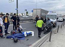 Yenikapı sahil yolunda bariyerlere çarpan motosikletli hayatını kaybetti