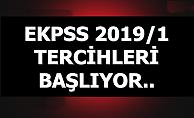 2019/1 EKPSS Tercihleri Balıyor
