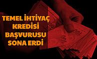 Bireysel Temel İhtiyaç Kredisi Başvurusu Sona Erdi (Halkbank-Vakıfbank-Ziraat Bankası Sonuç Sayfası)