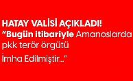 Hatay Valisi Rahmi Doğan: Bugün İtibariyle Amanos Dağlarında PKK Terör Örgütü İmha Edilmiştir
