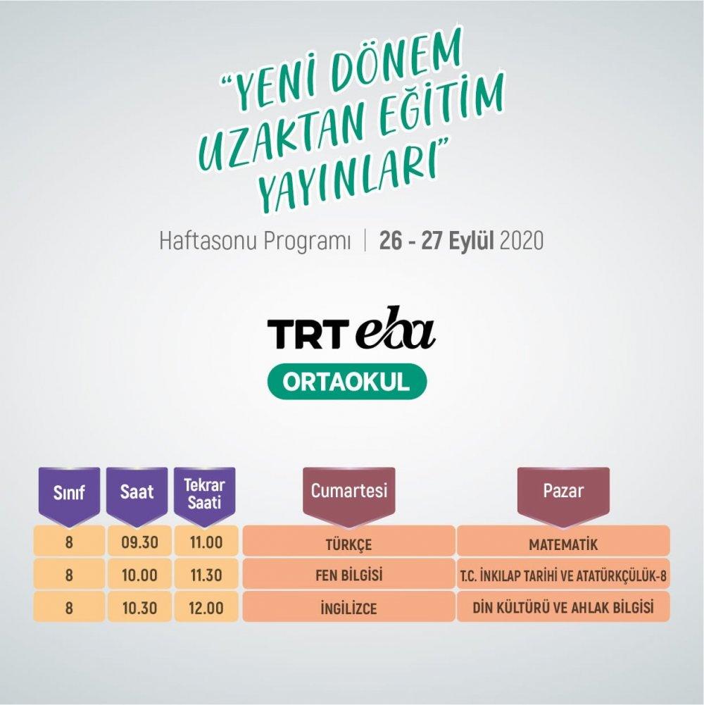 MEB'den Son Dakika 2021 LGS ve YKS Duyurusu (İşte TRT EBA Ders Programı) 2