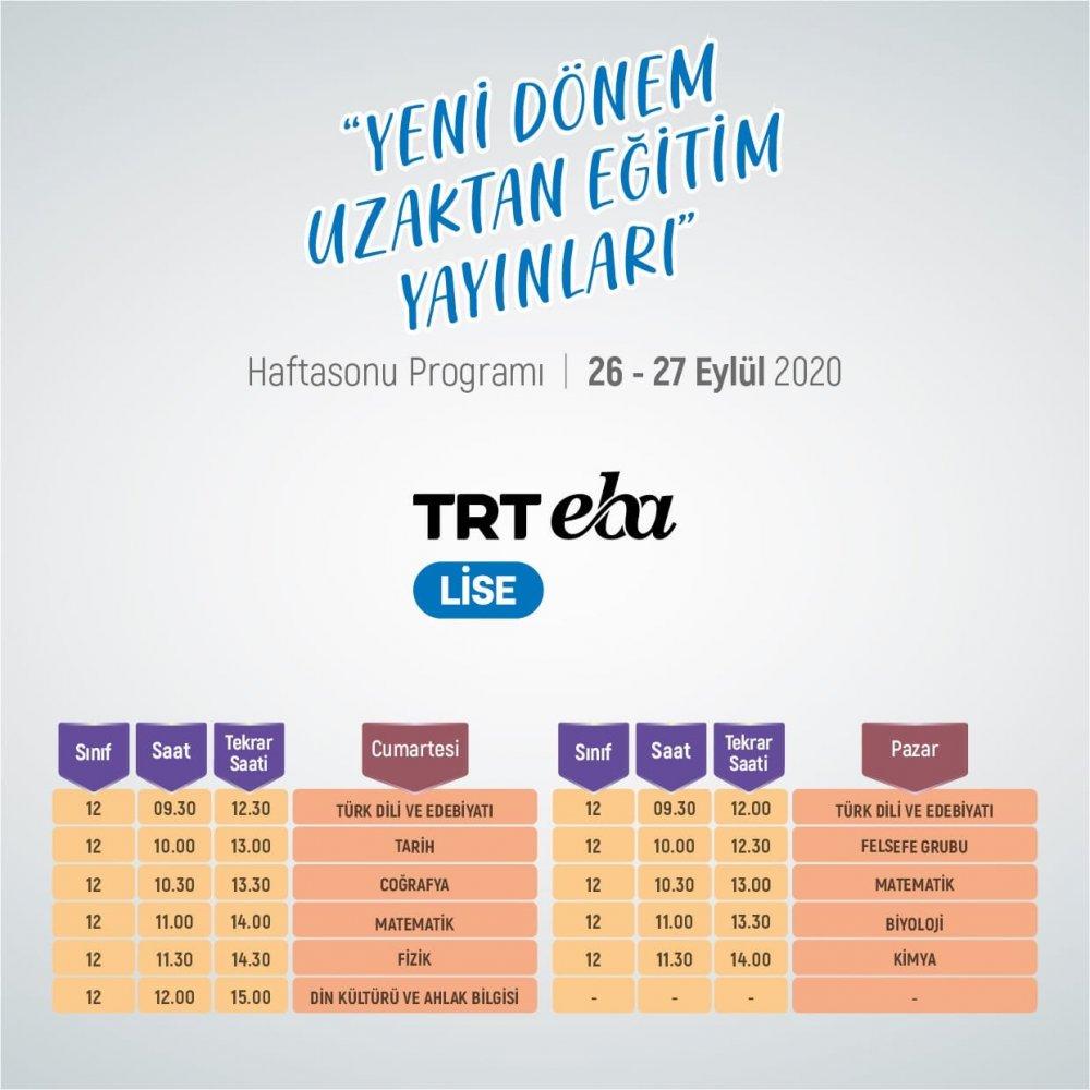 MEB'den Son Dakika 2021 LGS ve YKS Duyurusu (İşte TRT EBA Ders Programı) 3
