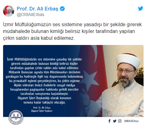 DİYANET İŞLERİ BAŞKANI'NDAN 'ÇAV BELLA' AÇIKLAMASI