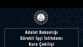 Adalet Bakanlığı Temizlik Personeli İşçi Alımı Kura Sonucu