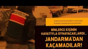 Binlerce Kişinin Hayatıyla Oynayacaklardı! Jandarma'dan Kaçamadılar!