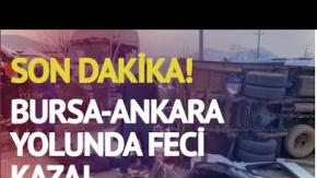Bursa'da Meydana Gelen Feci Trafik Kazası Kamerada