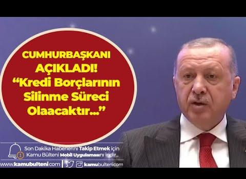 Son Dakika: Cumhurbaşkanı Erdoğan Açıkladı ! KYK Kredi Borcu Olanlara Müjde