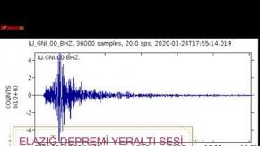 Elazığ#039;daki Depremin Yeraltı Sesi Ortaya Çıktı