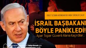 Gazze'den Roket Ateşlendi, Netenyahu Ne Yapacağını Şaşırdı! İsrail Başbakanı Netenyahu'nun Paniklediği O Anlar!