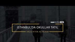 İstanbul'da Eğitim Öğretime Kar Engeli - 25 Ocak'ta İstanbul'da Okullar Tatil Mi?